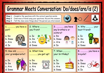 English worksheets: esl conversation questions