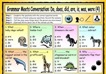 ESL Grammar Meets Conversation BUNDLE - 13 EFL worksheets