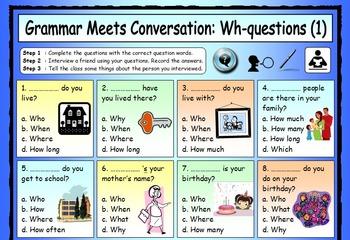 ESL Grammar Meets Conversation BUNDLE - 12 EFL worksheets