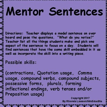 Grammar Mentor Sentence Sampler
