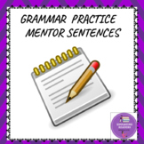 Grammar Mentor Sentences