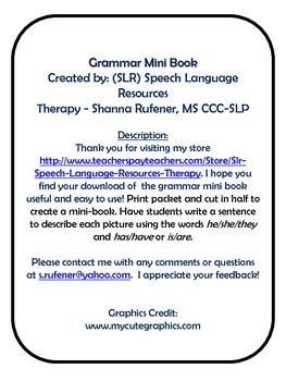 Grammar Mini-Book