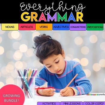 Grammar Mini Lessons, Activities, and Sentence Practice: THE BUNDLE