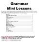Grammar Mini-Lessons (all grammar topics on state testing)