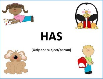 Grammar Mini Unit: HAVE/ HAS - Speech/Language Therapy