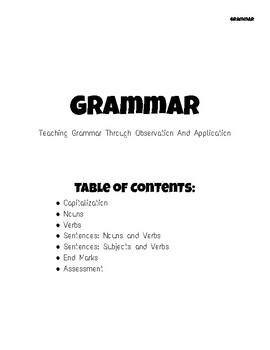Grammar Mini-lessons and Assessment