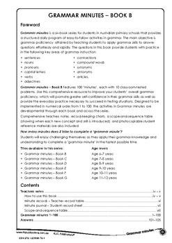 Grammar Minutes Ages 6-7