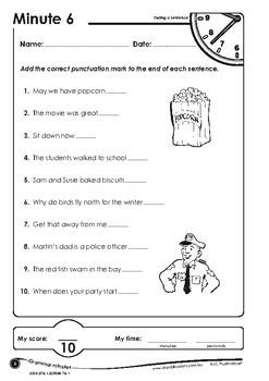 Grammar Minutes Ages 7-8