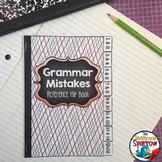 Grammar Mistakes: Interactive Notebook Flip Book (quick reference, study guide)
