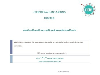 Grammar: Modals and Conditionals Practice Slideshow (ESL Intermediate+)