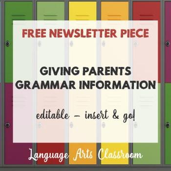 Grammar Newsletter Piece