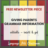 Grammar Newsletter Piece