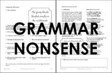 """Jabberwocky"" by Lewis Carroll - grammar, nonsense words,"