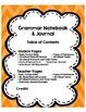 Grammar Notebook and Journal