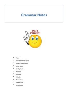 Grammar Notes