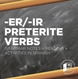 -ER and -IR Preterite Regular notes w/ reading + activity