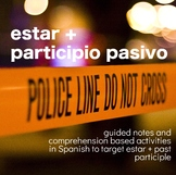 Grammar Notes: Estar + past participle with crime scene activity