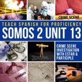 SOMOS Spanish 2 Unit 13: Estar + past participle with crime scene activity