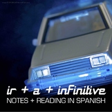 Ir + a + infinitive notes in Spanish with reading and activity