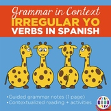 Grammar Notes: Irregular yo forms with reading and activity