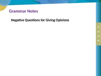 Grammar Notes: Negative Questions for Giving Opinions