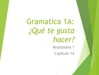 Grammar Notes Realidades 1 Chapter 1A