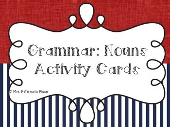 Grammar: Noun Activity Cards