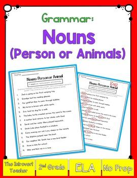 Grammar: Noun (Person or Animal)