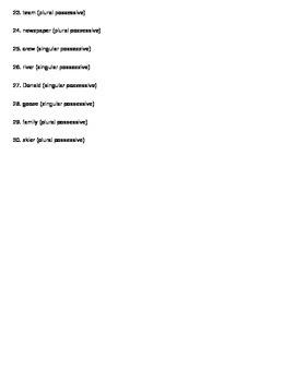Grammar - Noun Test