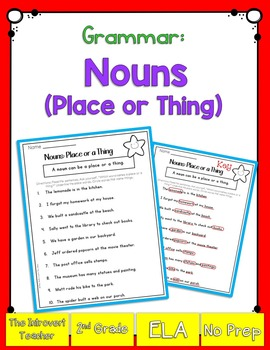 Grammar: Nouns (Places or Things)