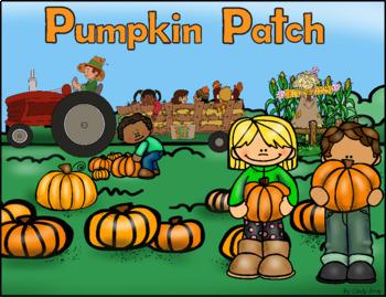 Grammar (Nouns, Verbs, Adj), Math, Writing ~ Pumpkin Patch Scene Card