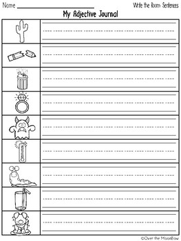 Grammar On the Go   Awesome Adjectives Write the Room Activity Pack