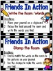 Grammar On the Go | Friends in Action Verbs Write the Room Activity Pack