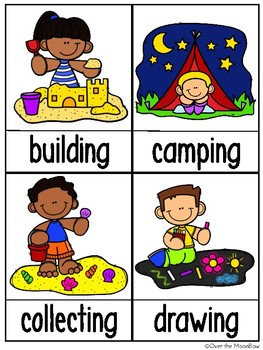 Grammar On the Go   Summer in Action Verbs Write the Room Activity Pack