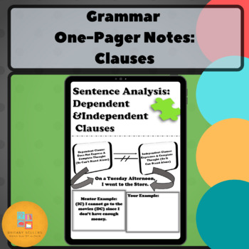 Grammar One-Pager: Clauses