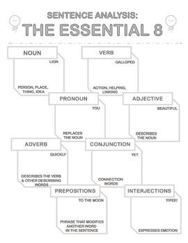 Grammar One-Pager: Essential Parts of Speech