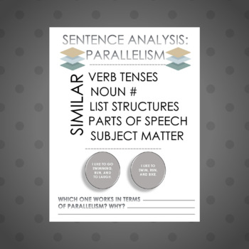 Grammar One-Pager: Parallel Structure