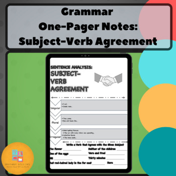 Grammar One-Pager: Subject-Verb Agreement