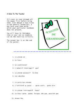 Grammar * Pac For French Class Set 3
