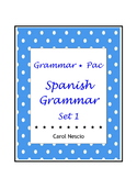 Grammar * Pac For Spanish Class Set 1 ~ Spanish Distance Learning
