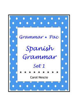 Grammar * Pac For Spanish Class Set 1