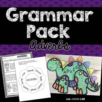 Adverb Activities   Grammar Pack   Adverb Craftivity and Printables