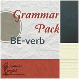 Grammar Pack BE-verb - Adult ESL