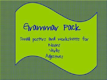 Grammar Pack: Noun, Verb, Adjectives