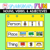 Grammar Practice Nouns Verbs Adjectives Activities and Worksheets for 1st Grade