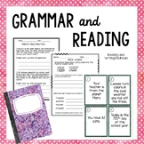 Grammar and Reading Pack: addresses common core standards