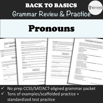 Grammar Packet: Pronouns Explanation and Practice