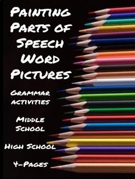 Grammar Activities: Painting Parts of Speech Word Pictures