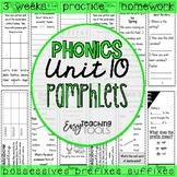 Grammar Pamphlets Unit 10 (possessives, suffixes, and prefixes)