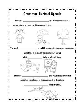 Grammar: Parts of Speech